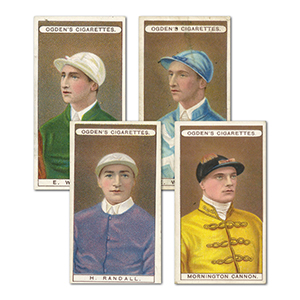 Owners, Racing Colours & Jockeys - Blue Back (50) Ogdens 1906