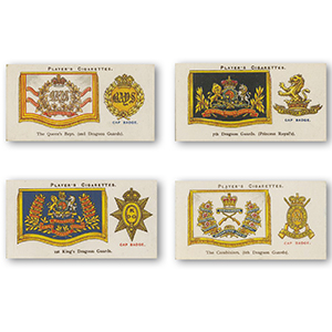 Drum Banners and Cap Badges (50) Player's 1924