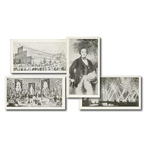 Crystal Palace Souvenir Cards (40) R & J Hill 1936