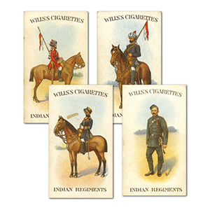 Indian Regiments (50) Wills 1912