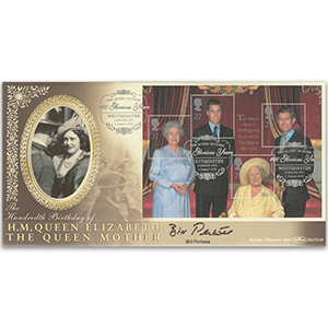 2000 Queen Mother 100th M/S - Signed Bill Pertwee