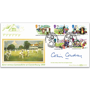 1994 Kent Cricket Cover - Signed by Sir Colin Cowdrey