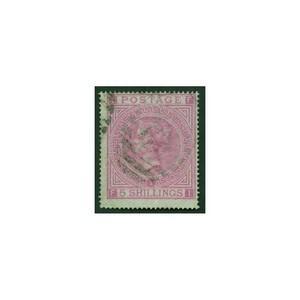 1867 5/- Rose