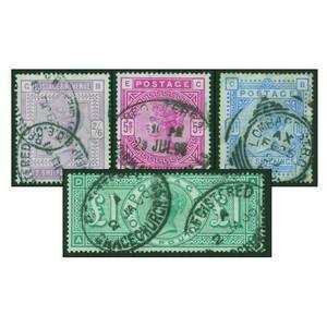 1883-91 2/6 - £1 green