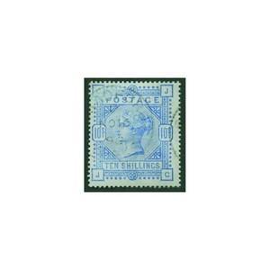 1884 10/- pale Ultramarine