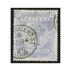 1883 10/- Pale Ultramarine vfu.