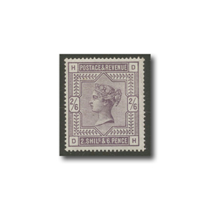 1883-4 2/6 Deep Lilac - White paper Used Mint