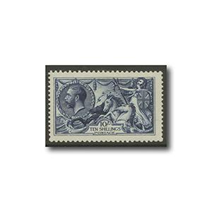 1913  10/- Indigo blue Waterlow l/m