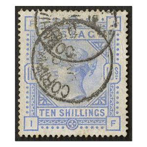 1883-84 10s Pale Ultramarine gu