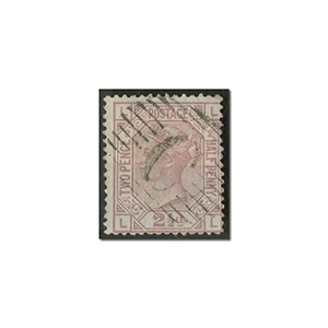 QV 2 1/2d Rosy mauve used 'Constantinople'