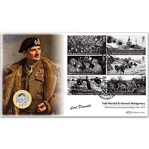 2019 D-Day Coin Cover - Signed Lord Dannatt