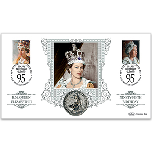HM The Queen's 95th Birthday Special Coin Cover