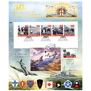 50th Anniversary D-Day Landings Large Card - Trebled 2014 - Signed Hector Duff
