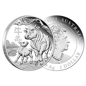 2021 Silver 1oz Year of the Ox Coin