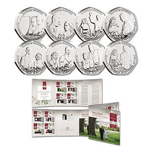 IoM Platinum Wedding set of 50p coins