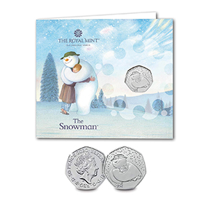 2020 The Snowman 50p Coin in Presentation Pack