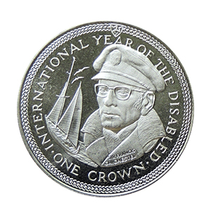 IOM 1981 International Year of the Disabled, Sir Francis Chichester Crown