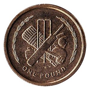 IOM 1997 Cricket £1 Coin