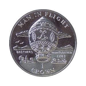 IOM 1995 Man in Flight Montgolfier Brothers Crown