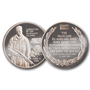 Liberation of Falkland Island Medallion