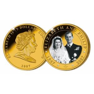 Diamond Wedding of HM Queen Elizabeth II and HRH Prince Philip 5oz coin