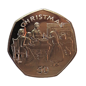 1998 Isle of Man 'Stirring Christmas Pudding' Christmas 50p