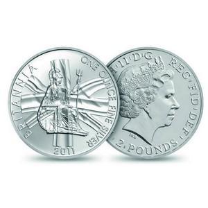2011 £2 Silver Britannia Coin
