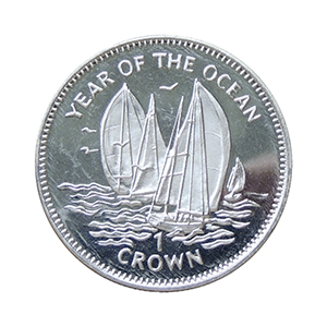 IOM 1998 Year of the Ocean Sailing Boats/Birds Crown