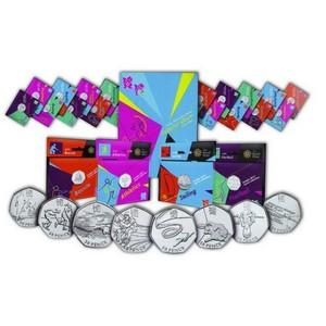 Olympics 29 British 50pence coin presentation pack