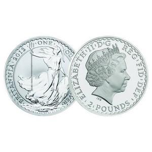 2012 Britannia Silver 1oz Coin