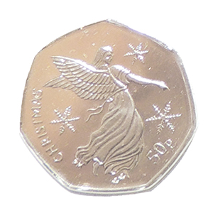 2012 Isle of Man Christmas 50p Nativity Angel