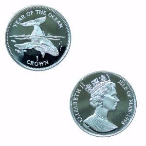 IOM 1998 Year of the Ocean Whale Crown
