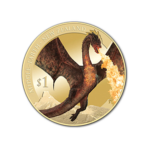 New Zealand Dragon Hobbit Battle of the 5 Armies Uncirculated Coin