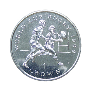 IOM 1999 Rugby World Cup (catching ball) Crown
