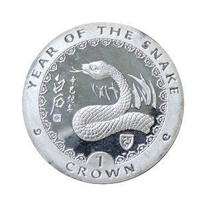 IOM 2001 Year of the Snake Crown