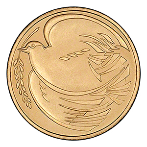 1995 Dove of Peace £2 Coin