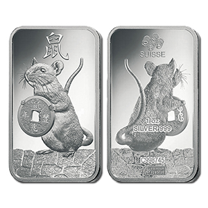 2020 Silver 1oz Year of the Rat Bar