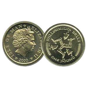 2000 IoM Millennium Bells £1