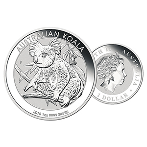 2018 Silver 1oz Australian Koala