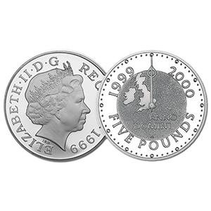 1999 GB Millennium £5 coin