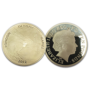 2012 London Olympic Games 5oz £10 Gold Coin