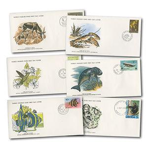 World Wildlife Official Collections FDCs