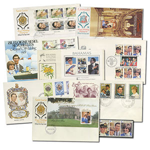 1981 Royal Wedding FDC collection