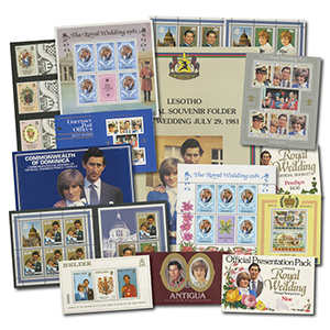 1981 Royal Wedding Stamp Collection