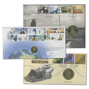 23 Royal Mail Coin Covers from 2000 - 2005