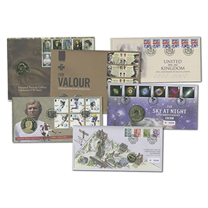19 Royal Mail Coin Covers from 2006 - 2008