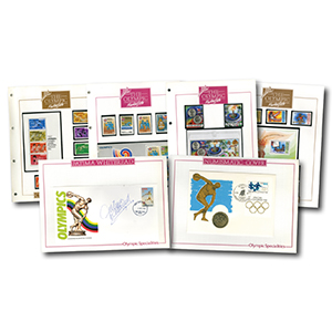 1988 The Olympic Masterfile Stamp Collections - 3 Albums