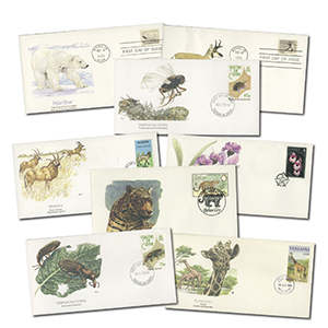 20 Wildlife First Day Covers - In Album