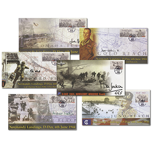 D-Day 60th Anniversary Set of 6 Signed Covers