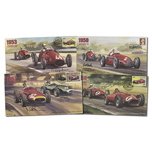 4 Formula One Signed Covers